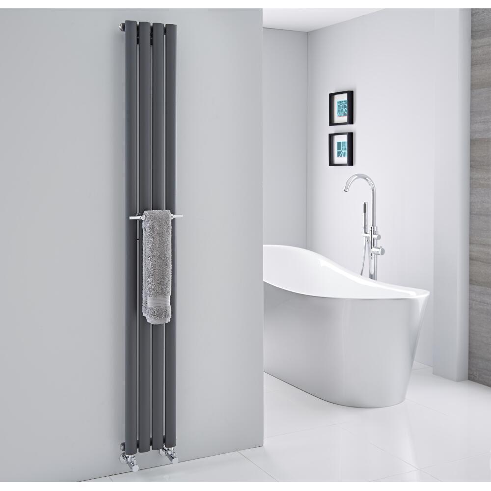 Barra Porta toallas para Radiadores Verticales Revive y Delta de 230mm