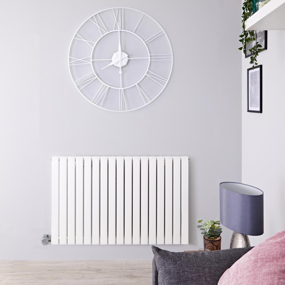 Radiador de Diseño Eléctrico Horizontal - Blanco - 635mm x 1000mm x 54mm -  1 Elemento de 1200W  - Sloane