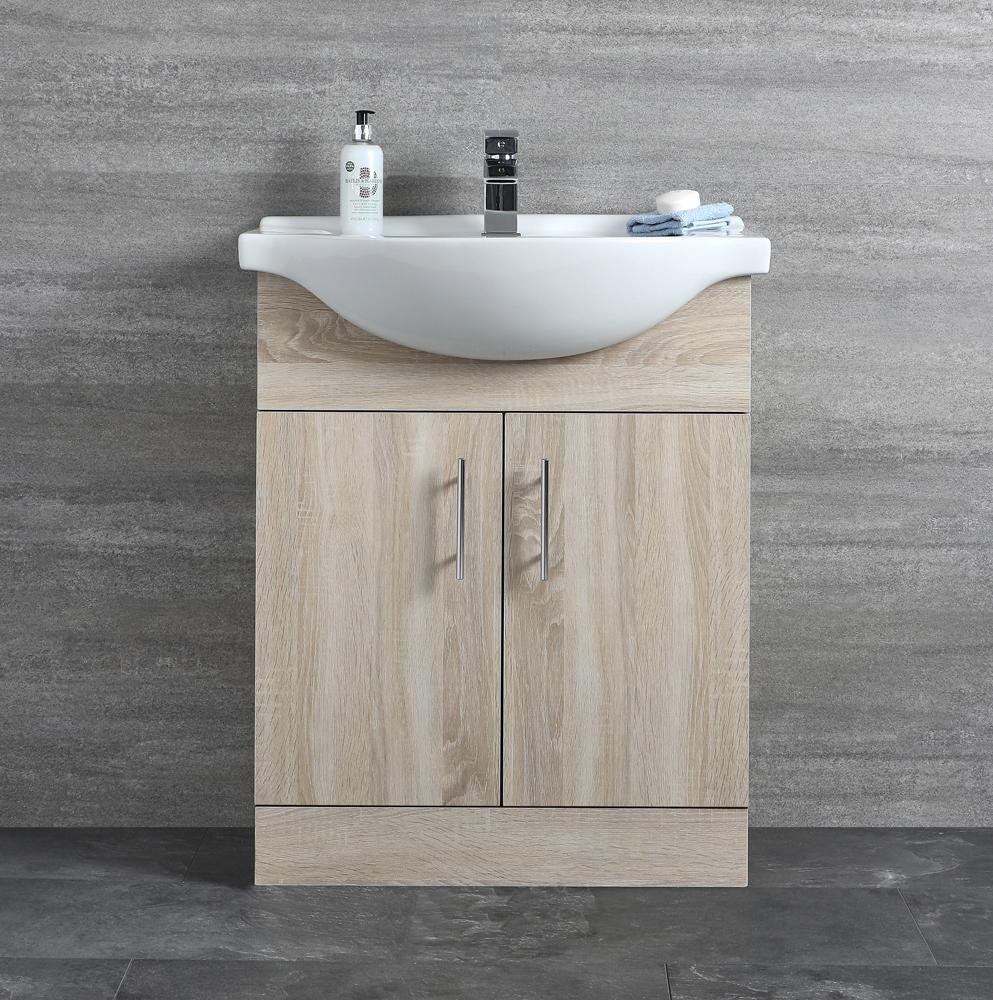 Mueble de Lavabo Efecto Roble 83,5x65x44cm - Classic Oak
