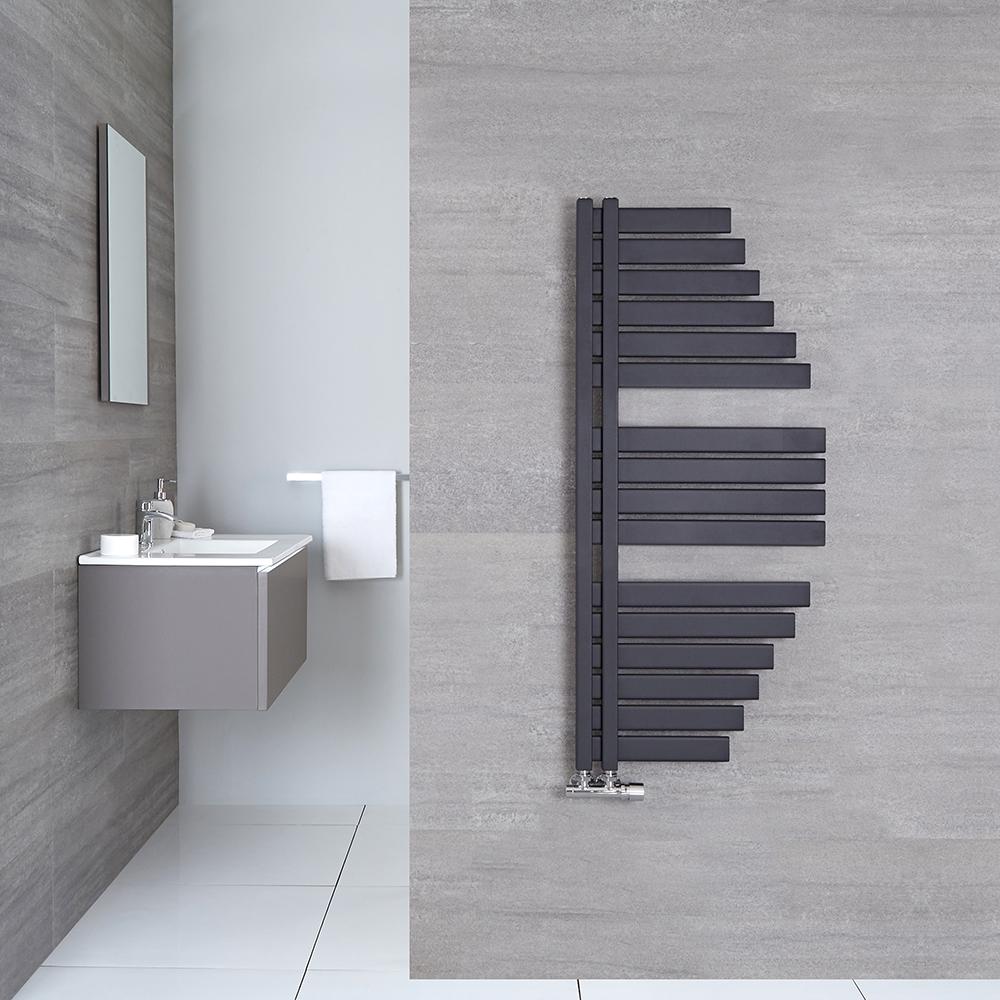 Radiador Toallero de Diseño Vertical - Color Antracita - 1460mm x 547mm - 769 Vatios - Lazio