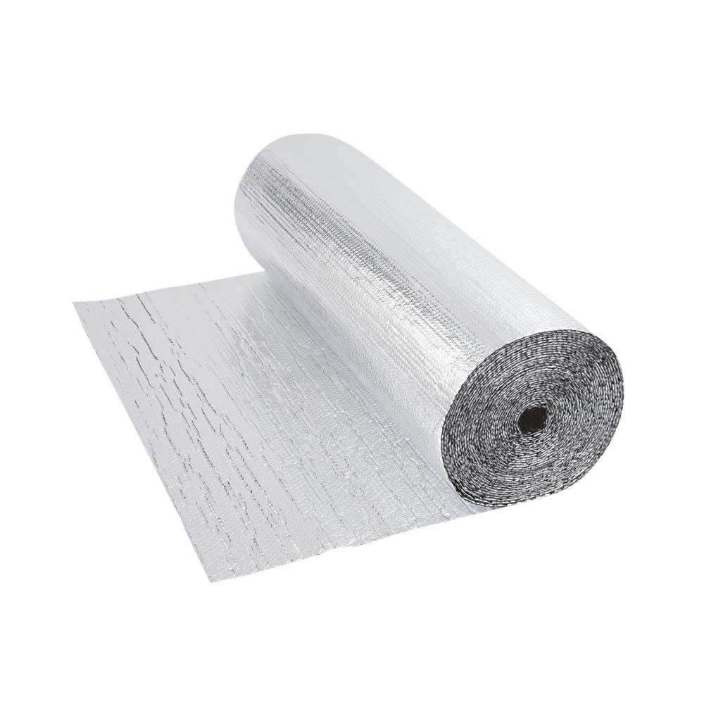 Rollo de Aislante Térmico en Aluminio de Doble Capa con Burbujas -5m x 1,2m  - 6m2