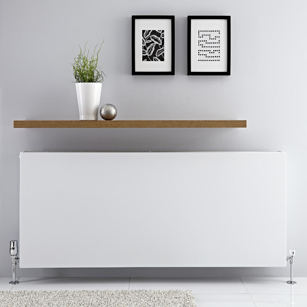 Radiador Convector Horizontal con Panel Doble - Blanco - 600mm x 1400mm x 103mm - 3031 Vatios - Type 22
