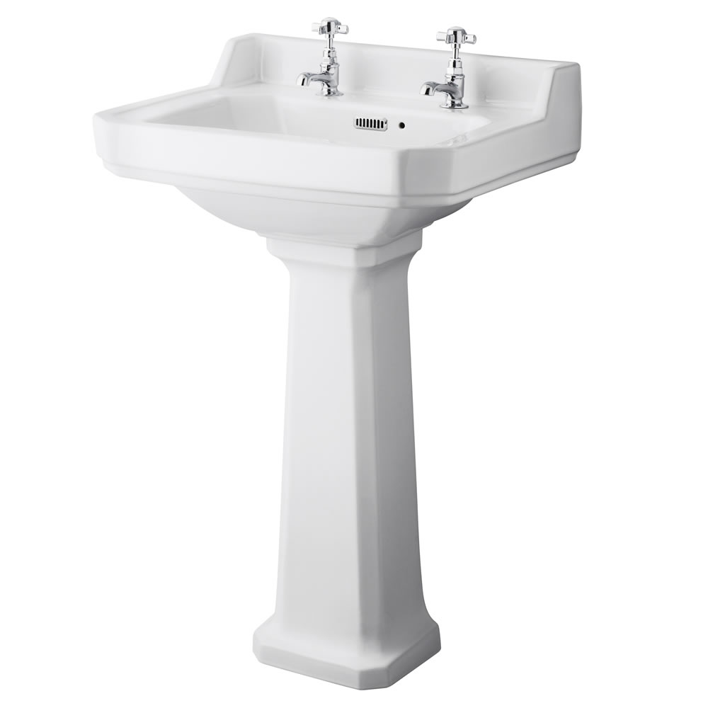 Conjunto de Baño con Inodoro WC, Cisterna y Lavabo Retro con Opción de Distintas Tapas de WC