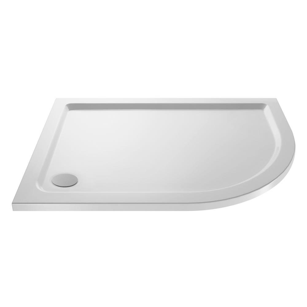 Plato de Ducha Angular de 900x800mm Acrílico Blanco Versión Izquierda
