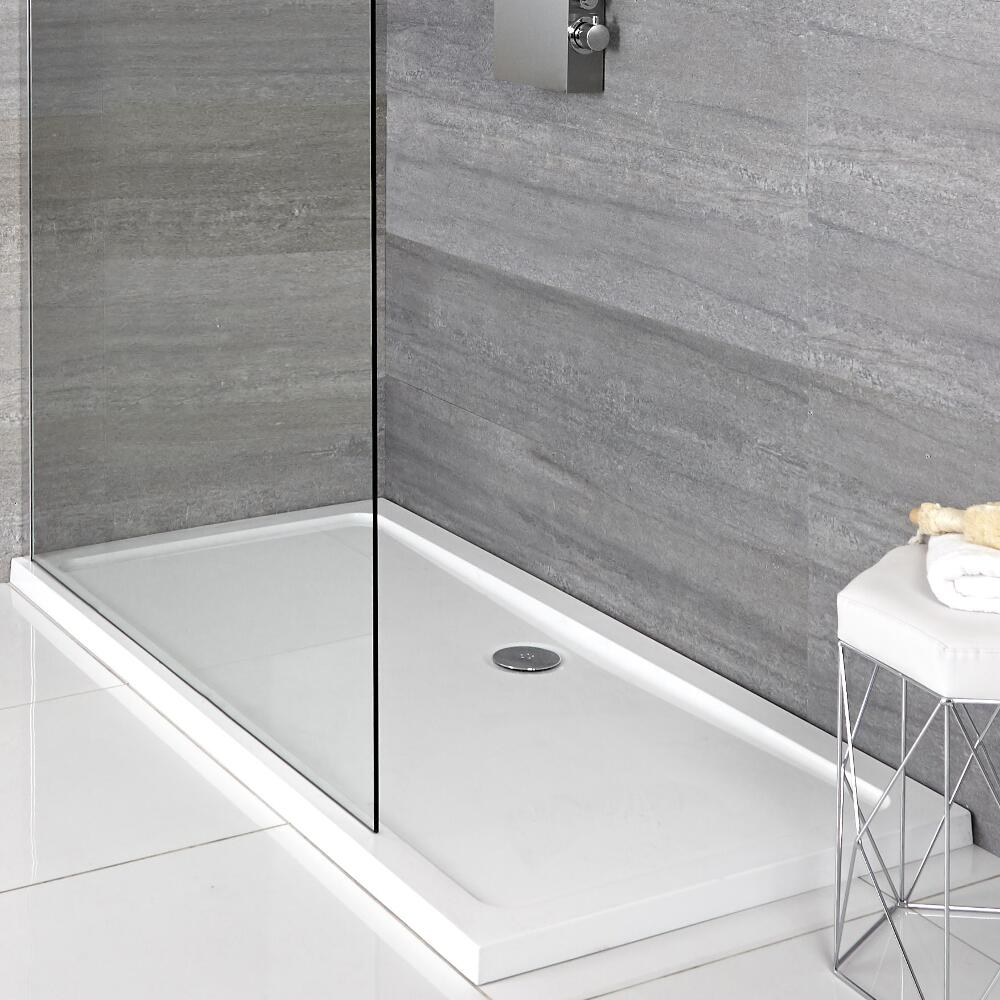 Plato de Ducha Rectangular Blanco de 900x760mm Duco Stone