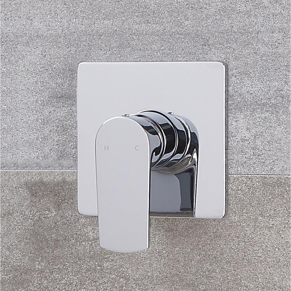 Mezclador de Ducha Manual Moderno de 1 Salida Cromado - Harting