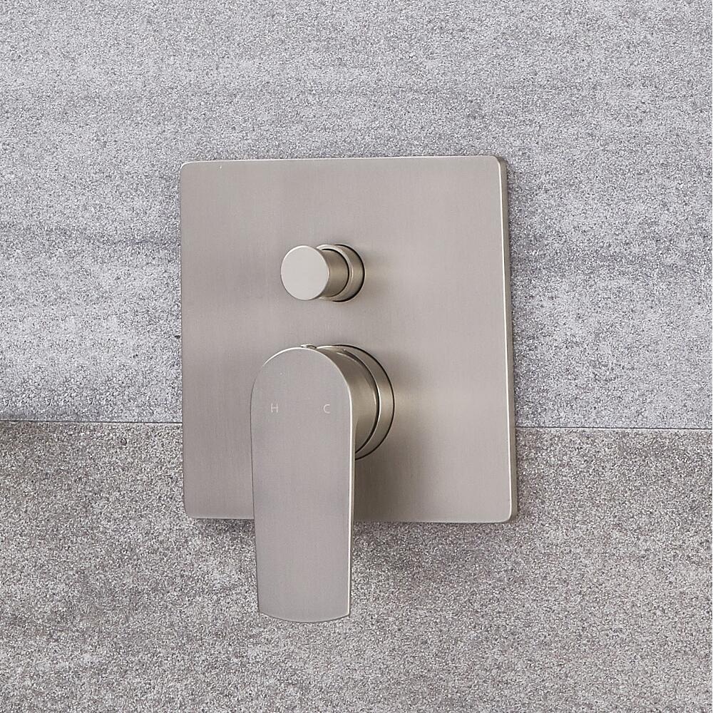 Mezclador de Ducha Manual Moderno de Color Níquel Cepillado - Harting