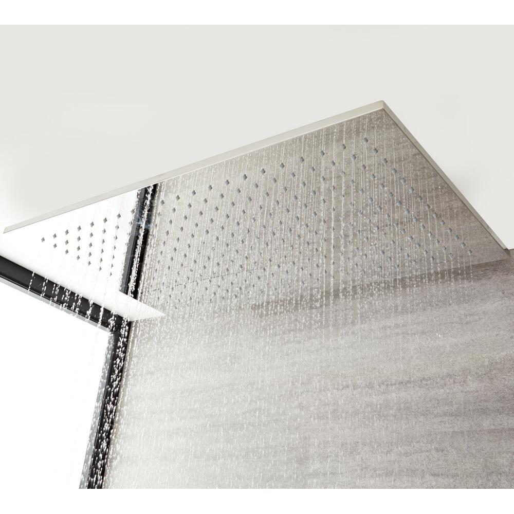 Alcachofa de Ducha Rectangular 800x500x18mm Ultraplana de Acero Inoxidable - Kubix