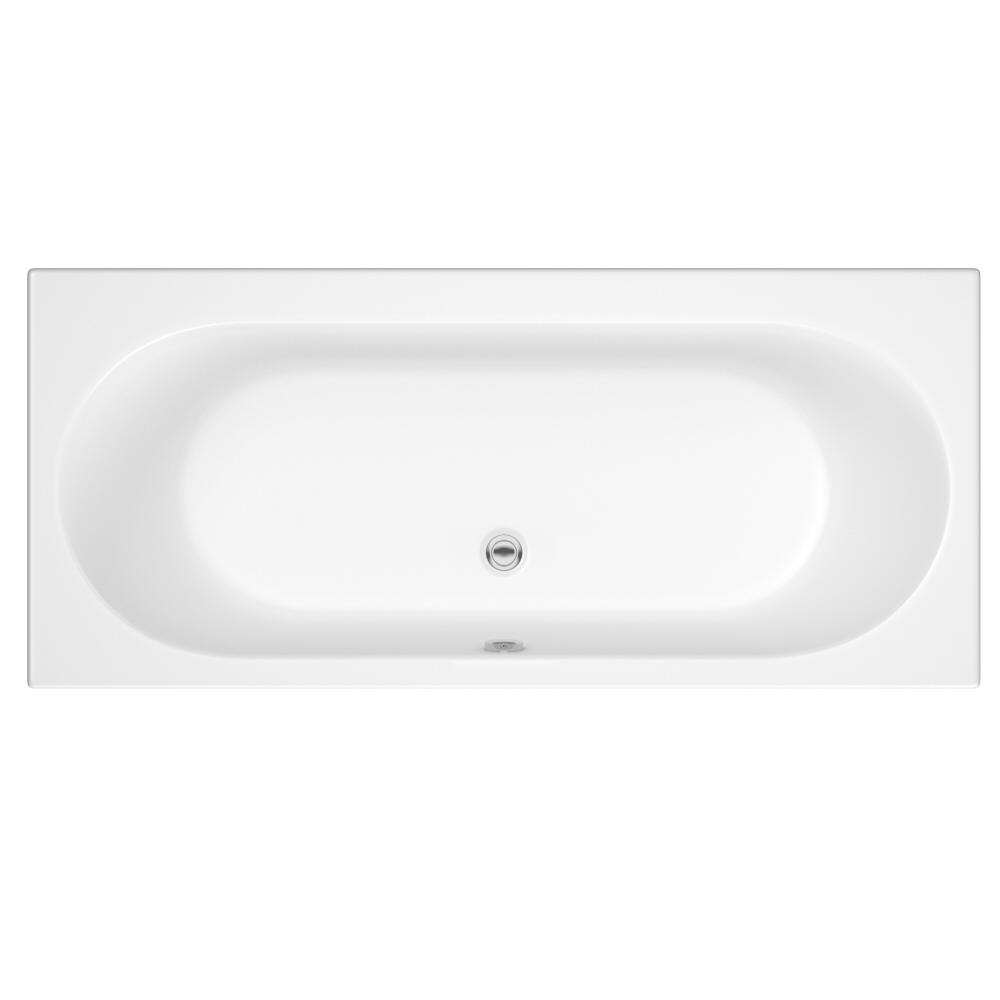 Bañera Acrílica Blanca con Diseño Redondeado Otterton - Disponible en Distintas Medidas