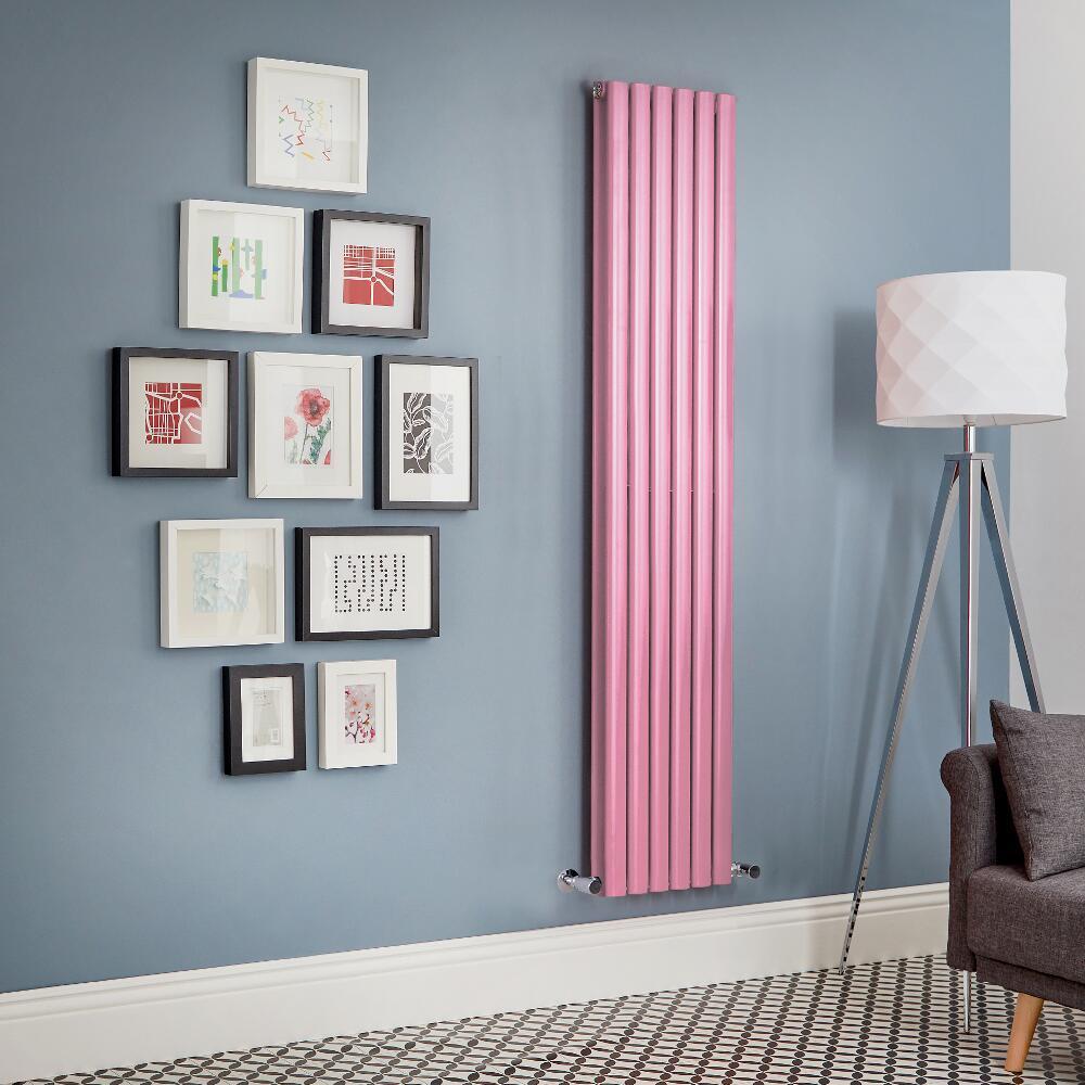 Radiador de Diseño Vertical Doble - Rosa - Revive - Disponible en Distintas Medidas