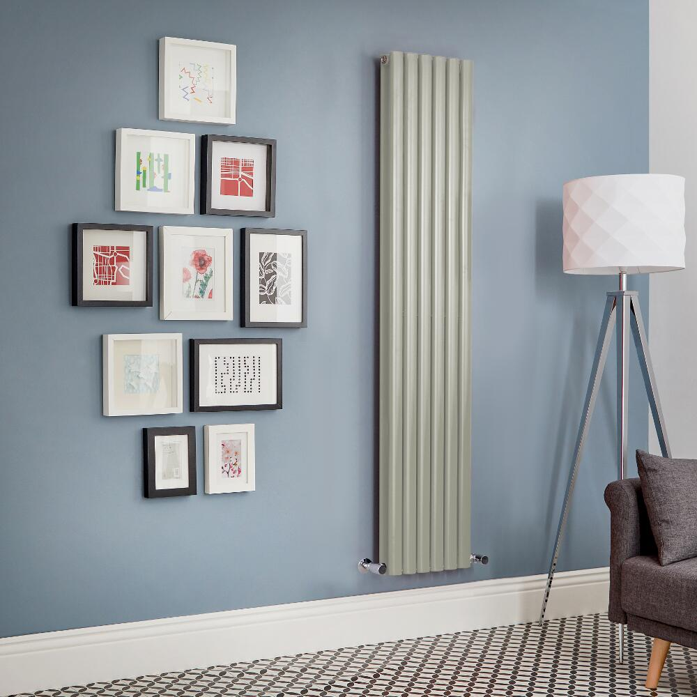 Radiador de Diseño Vertical Doble - Verde Salvia - Revive - Disponible en Distintas Medidas
