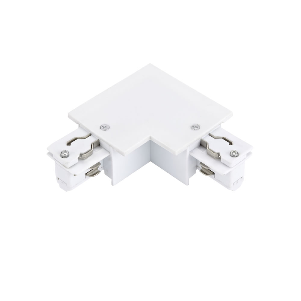 Biard Conector de Alimentación L Para Sistemas de 3 Circuitos - Blanco