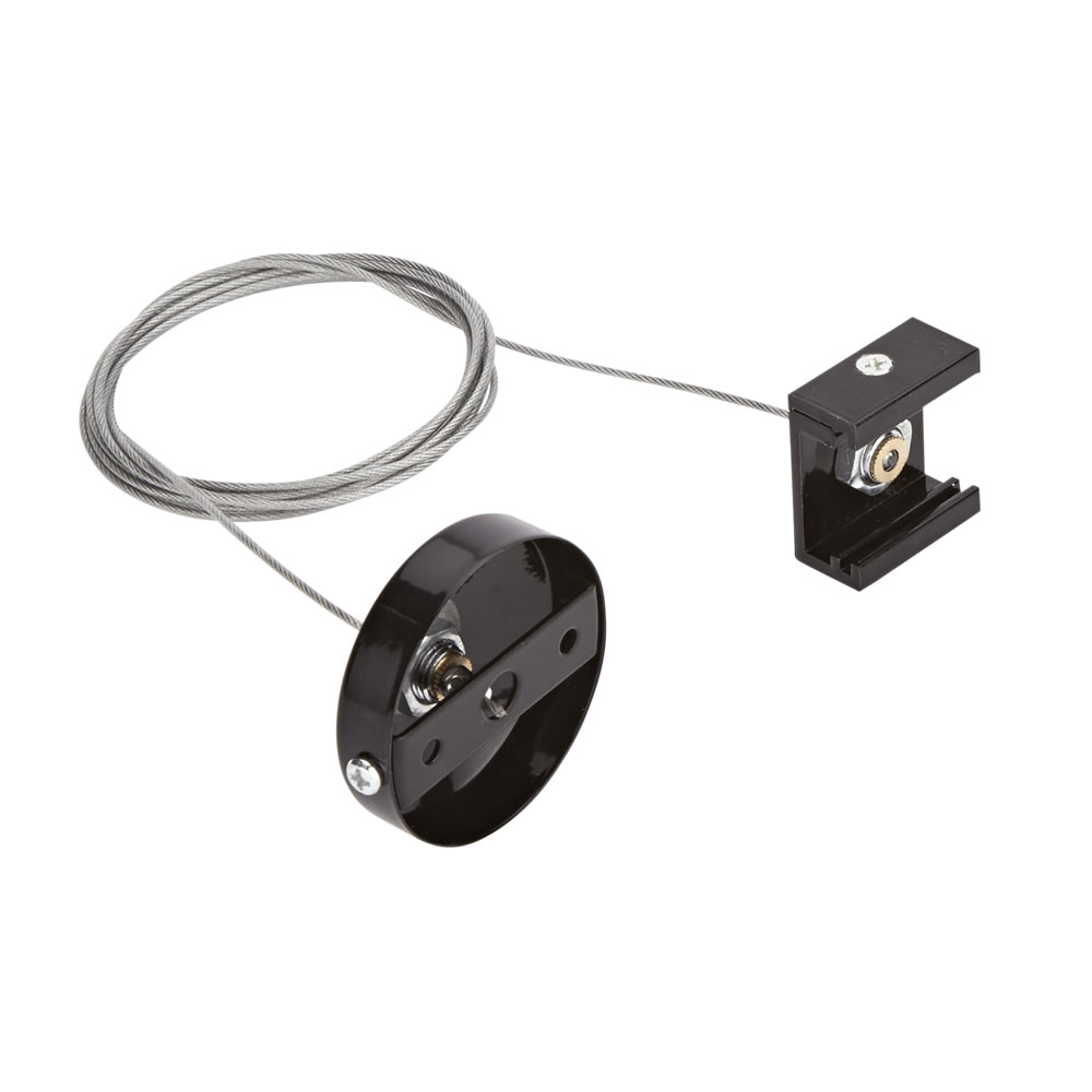 Biard Conector para Colgar Carriles de 3 Sistemas al Techo - Negro