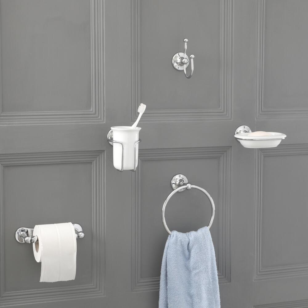 Conjunto de 6 Piezas con Accesorios Tradicionales para Cuarto de Baño