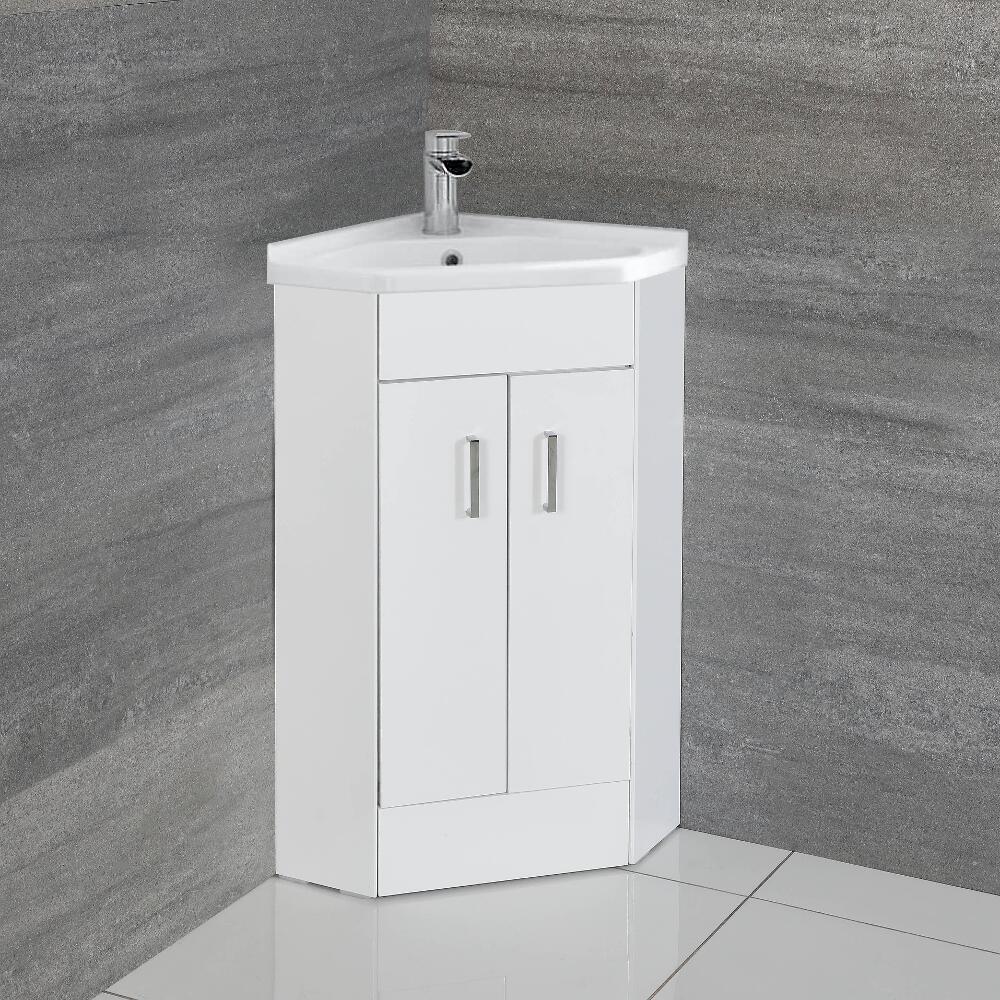 Mueble de Lavabo de Esquina con 2 Puertas de 555mm