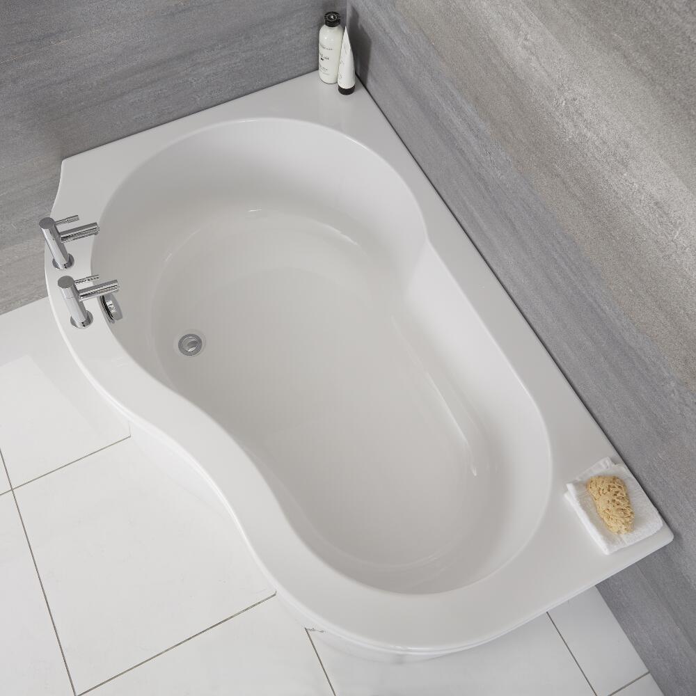 Bañera Angular Acrílica Versión Izquierda 150x100cm con Faldón