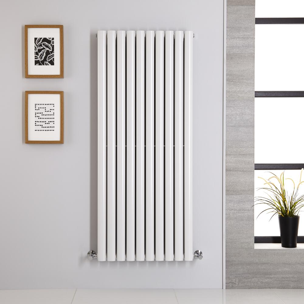 Radiador de Diseño Vertical Doble - Blanco - 1400mm x 590mm x 78mm - 1740 Vatios - Revive