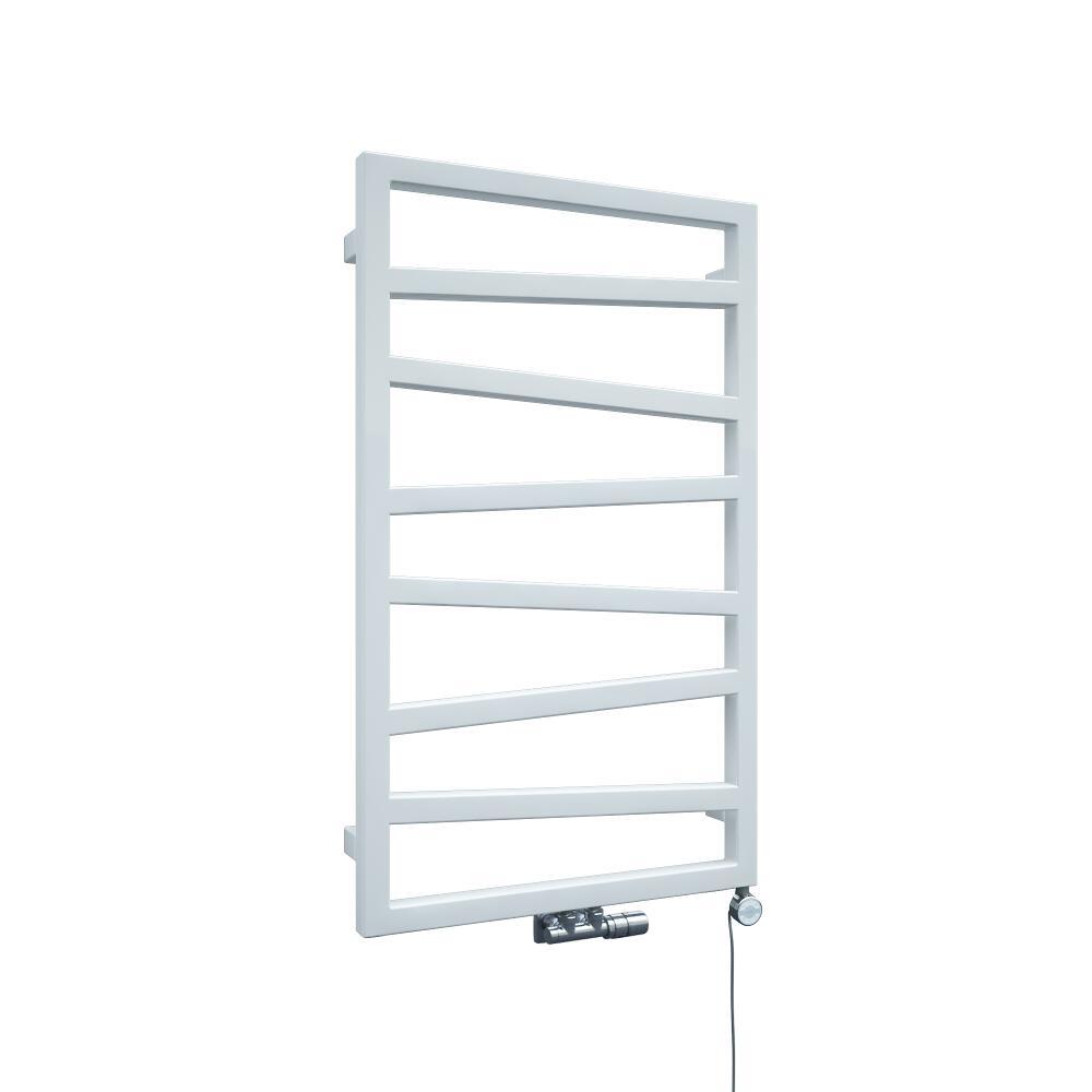 Radiador Toallero de Diseño Vertical Con Conexión Central - Blanco - 835mm x 500mm x 30mm - 405 Vatios - Torun