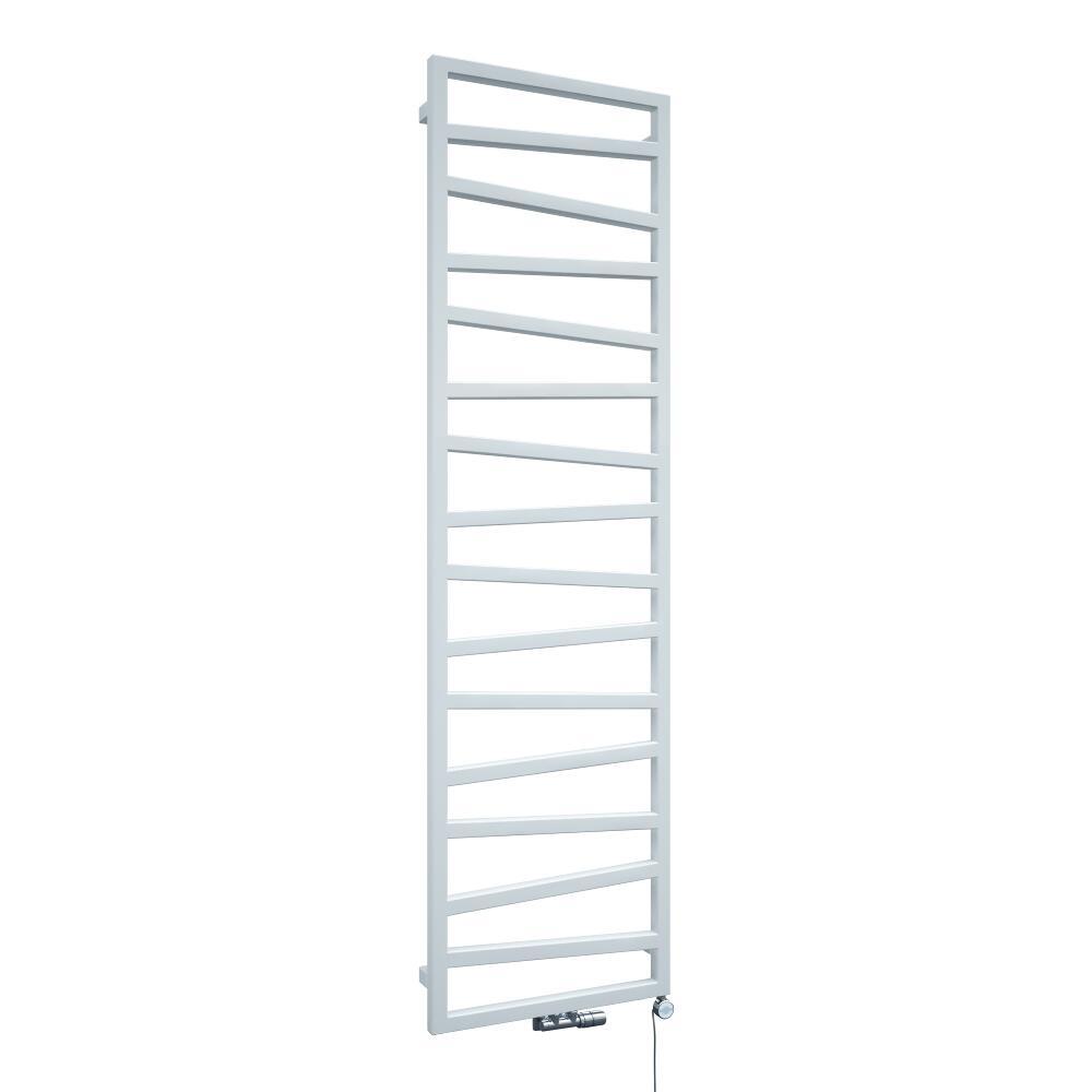 Radiador Toallero de Diseño Vertical Con Conexión Central - Blanco - 1780mm x 500mm x 30mm - 794 Vatios - Torun