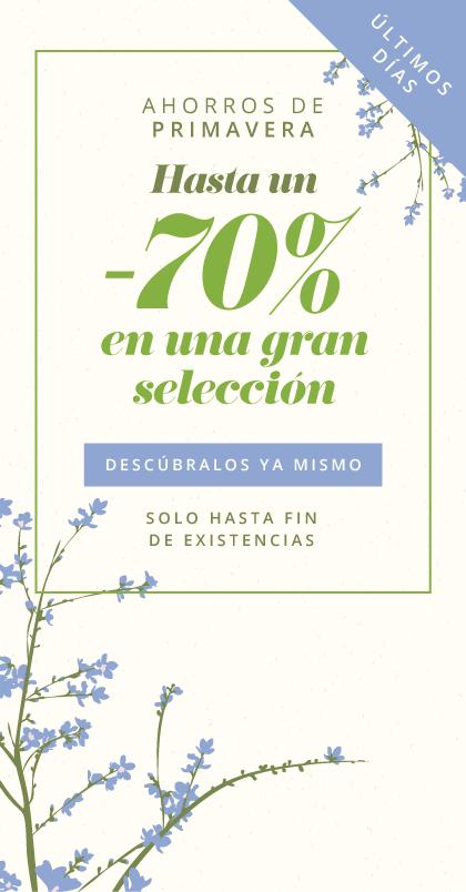 Ahorros de primavera Hasta un -70% en una gran selección Apresúrese, solo hasta fin de existencias Descúbralos ya mismo