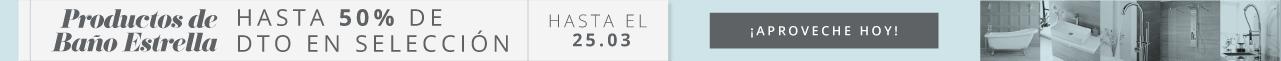 Productos de Baño Estrella Hasta 50% de Dto en una Selección ¡Aproveche Hoy! Hasta el 25.03
