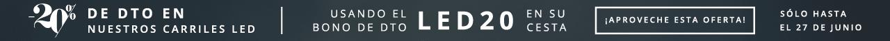 -20% de Dto en nuestros carriles LED