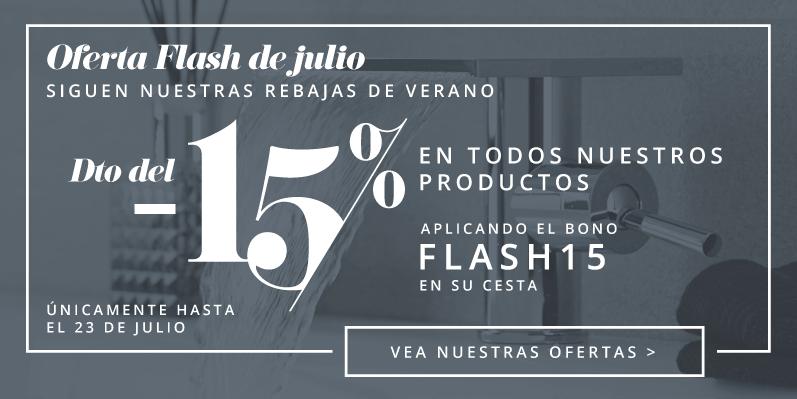 Oferta Flash de julio - Dto del -15% en todos nuestros productos