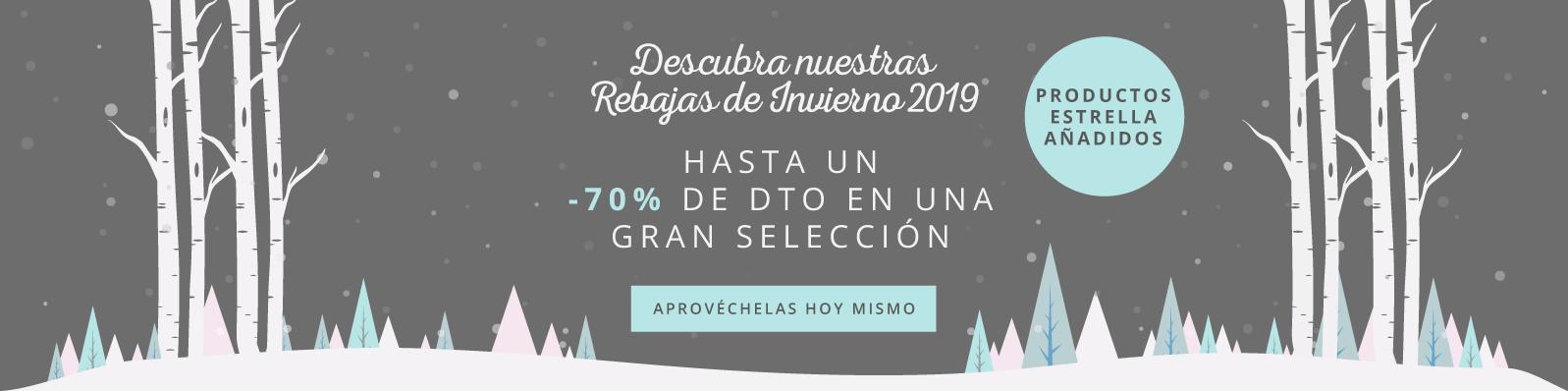 Descubra nuestras Rebajas de Invierno 2019 Hasta un -60% de Dto en una gran selección Aprovéchelas hoy mismo - ¡Nuevas líneas añadidas!