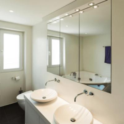 Iluminaci n led para el ba o luminarias y plafones led - Iluminacion para espejos de bano ...