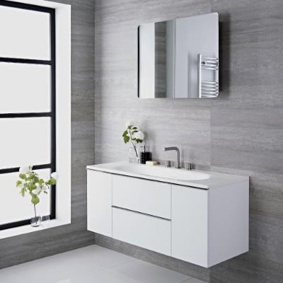 Muebles de Lavabo Blancos